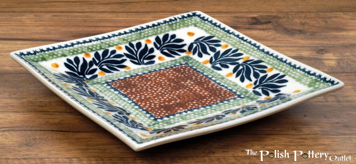 "7"" Square Dessert Plates (Jungle Fever)"