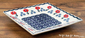 "7"" Square Dessert Plates (Summer Blossoms)"