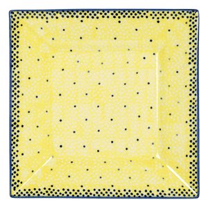 "7"" Square Dessert Plates (Sunshine Blue Speckle)"