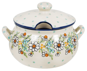 3 Liter Soup Tureen with Handle (Daisy Bouquet)