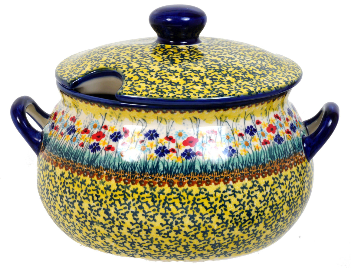3 Liter Soup Tureen with Handle (Sunlit Wildflowers)