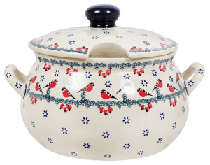 3 Liter Soup Tureen with Handle (Red Bird)