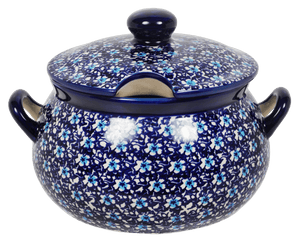 3 Liter Soup Tureen with Handle (Blue on Blue)