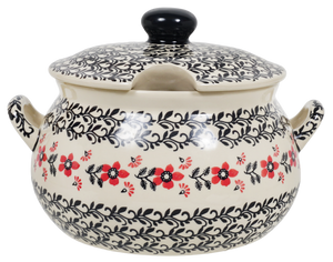 3 Liter Soup Tureen with Handle (Scarlet Garden)