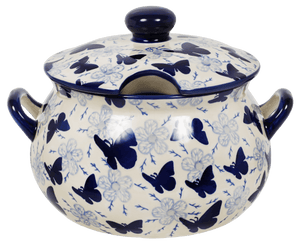 3 Liter Soup Tureen with Handle (Blue Butterfly)