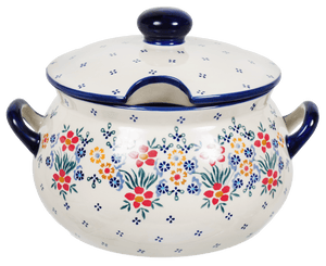 3 Liter Soup Tureen with Handle (Fresh Flowers)