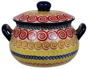 1 Liter Soup Tureen with Handle (Psychedelic Swirl)