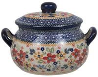 1 Liter Soup Tureen with Handle (Ruby Bouquet)