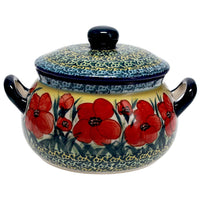 1 Liter Soup Tureen with Handles (Poppies in Bloom)
