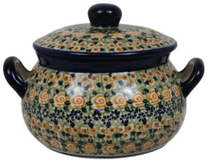 1 Liter Soup Tureen with Handle (Perennial Garden)
