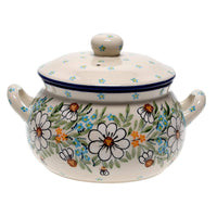 1 Liter Soup Tureen with Handles (Daisy Bouquet)