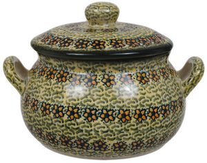 1 Liter Soup Tureen with Handle (Orange Blossom)