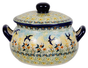 1 Liter Soup Tureen with Handle (Soaring Swallows)