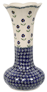 "12.5"" Tulip Lipped Vase (Forget Me Not)"