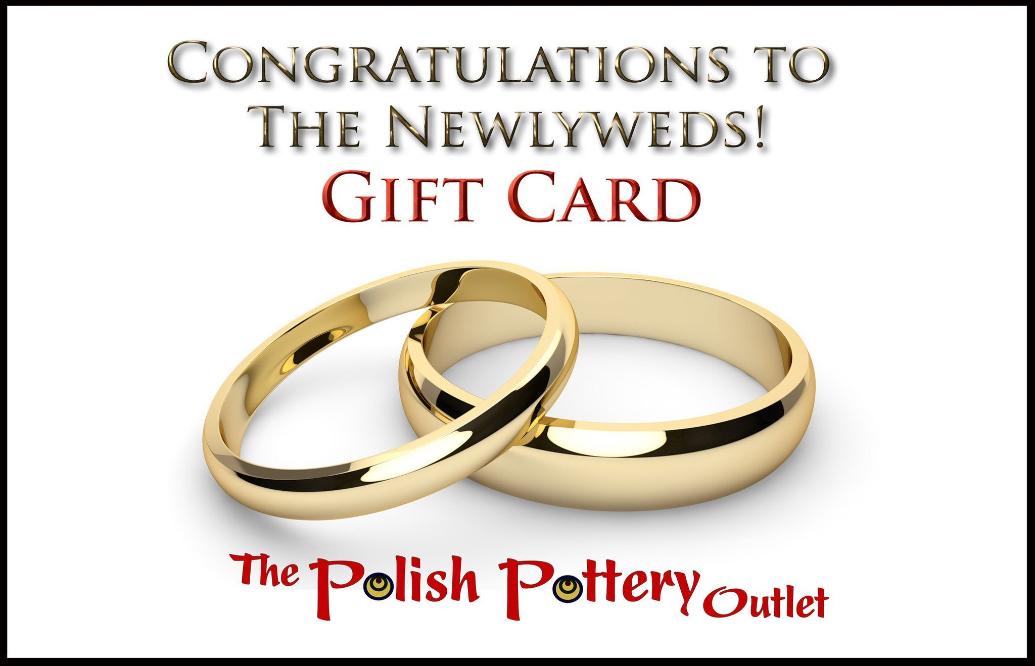 Wedding Gift Card The Polish Pottery Outlet