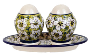 Salt & Pepper Set W/Tray (328AR)