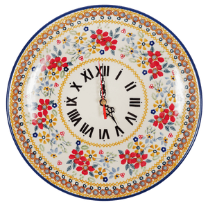 "10"" Round Plate Wall Clock (Ruby Duet)"