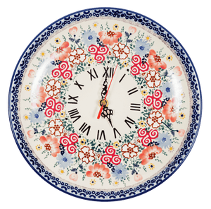 "10"" Round Plate Wall Clock (Floral Beginnings)"