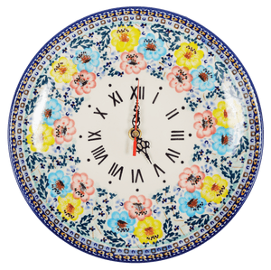"10"" Round Plate Wall Clock (Brilliant Garland)"