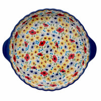 Pie Plate with Handles (Sunlit Blossoms)