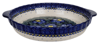 Pie Plate with Handles (Pansies)