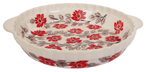 Pie Plate with Handles (Evening Blossoms)