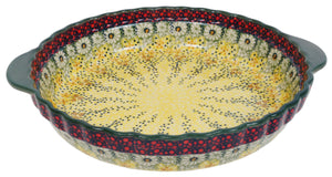 Pie Plate with Handles (Sunshine Grotto)