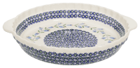 Pie Plate with Handles (Lily of the Valley)