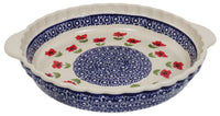 Pie Plate with Handles (Poppy Garden)