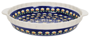 Pie Plate with Handles (Tulip Azul)