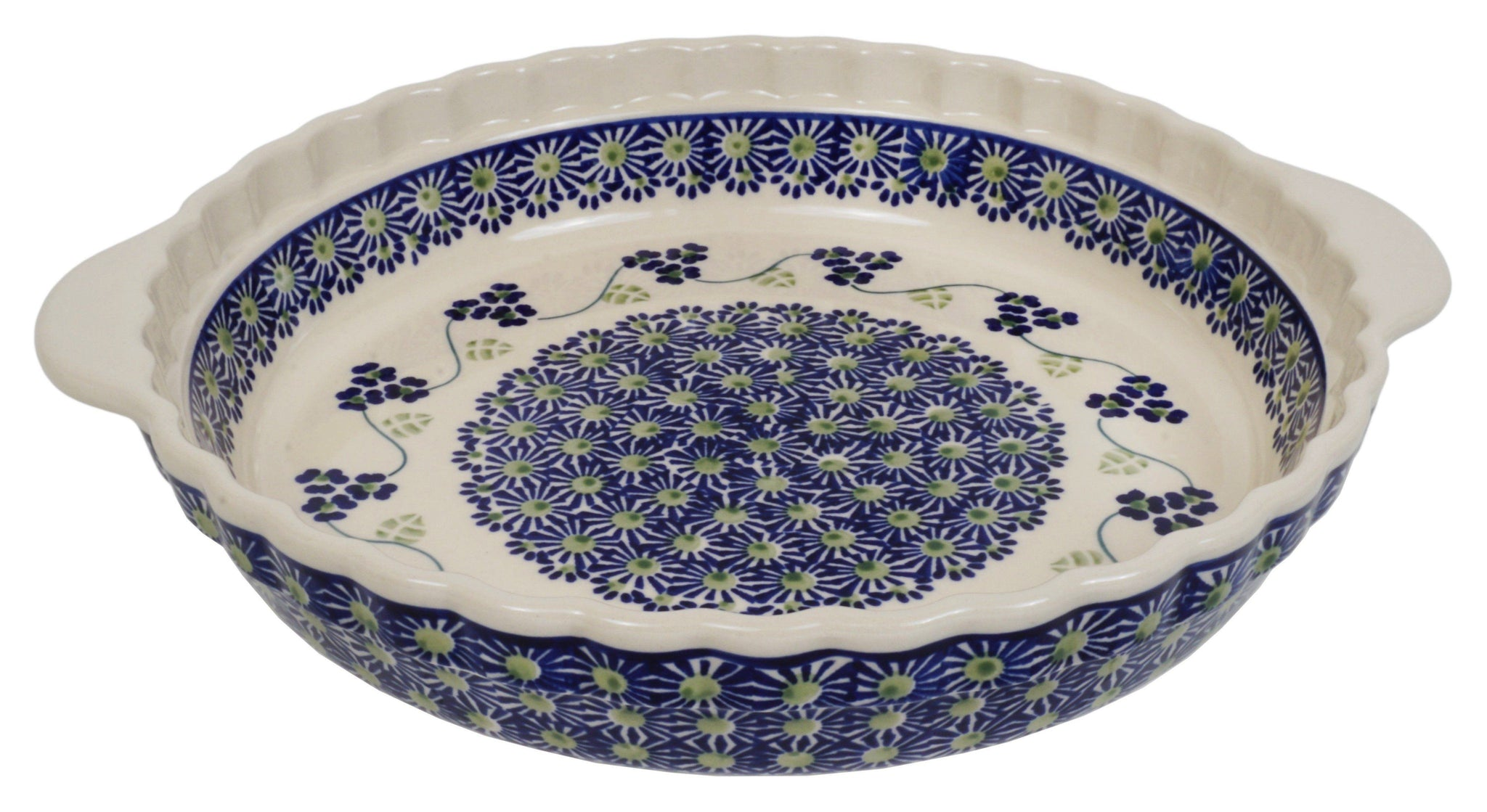 Pie Plate with Handles (Vineyard in Bloom)  sc 1 st  The Polish Pottery Outlet & All Products Tagged