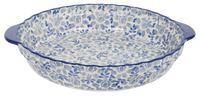 Pie Plate with Handles (English Blue)