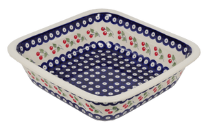 "Deep 11.5"" Square Casserole (Cherry Dot)"