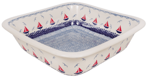 "Deep 11.5"" Square Casserole (Smooth Seas)"