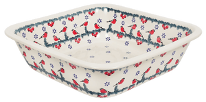 "Deep 11.5"" Square Casserole (Red Bird)"