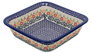 "Deep 11.5"" Square Casserole (Flower Power)"