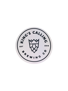 Kings Calling Collection: White Sticker