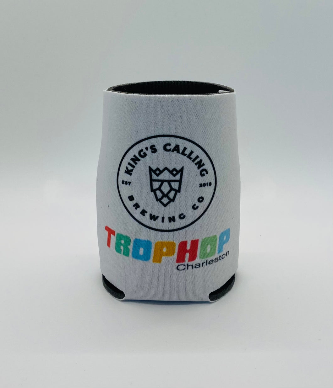 TropHop Collection: White Rainbow Koozie