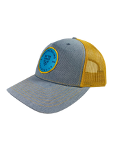 Load image into Gallery viewer, Teal Trop Trucker