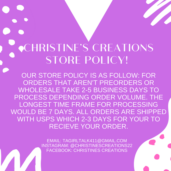 Updated Store Policy's
