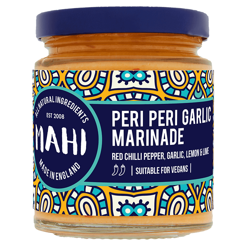 Peri Peri Garlic Marinade, MAHI, BBQ, Free From Top 14 Allergens, Marinade, Peri Peri, Suitable For Vegans, Suitable For Vegetarians