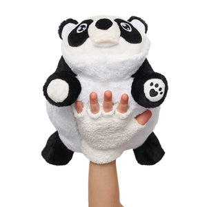 Front Angle Panda Snuggle Glove Travel Pillow for Kids
