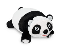Load image into Gallery viewer, front right angle Panda Snuggle Glove Travel Pillow for Kids