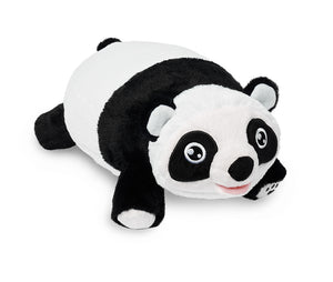 front right angle Panda Snuggle Glove Travel Pillow for Kids