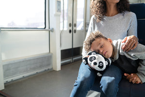 Panda Snuggle Glove Travel Pillow for Kids napping