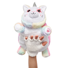 Load image into Gallery viewer, Unikitty Snuggle Glove travel pillow for kids front view