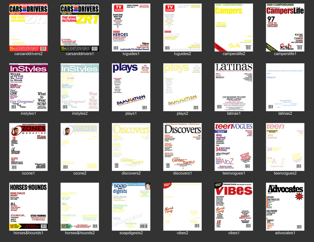 magazine cover overlays digital backgrounds dslrbooth store