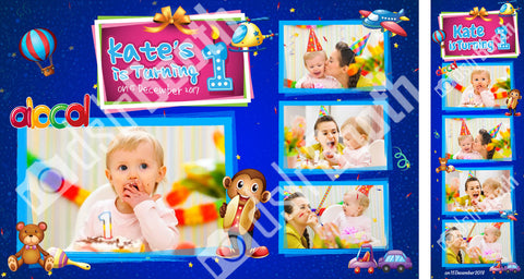 Children's Birthday Alphabet Toys Template
