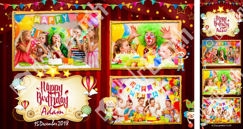 Children's Circus Birthday Template