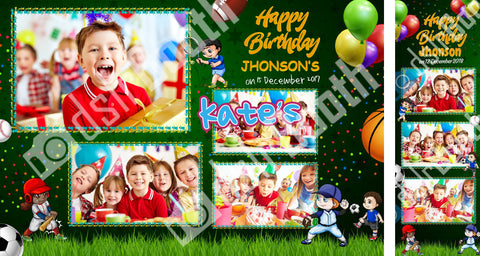 Children's Sports Birthday Template